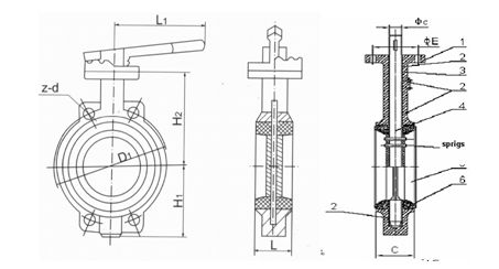 Затвор Ду-450 поворот диск. редуктор