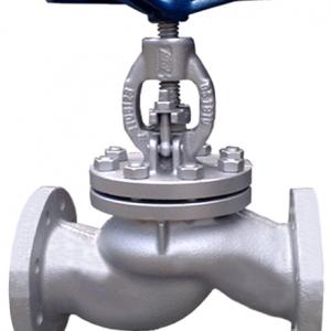Клапан запорный сталь 15с65нж Ду 15 Ру16 Тмакс=465 оС фл Китай .