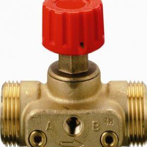 """Клапан запорный ручной латунь CDT Ду 15 Ру16 Rp1/2"""" НР Kvs=1.6м3/ч б/ниппелей Danfoss 003Z7691"""