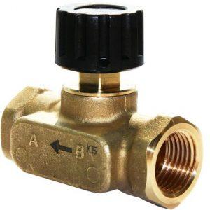 """Клапан балансировочный ручной латунь USV-S Ду 15 Ру16 Rp1/2"""" ВР Kvs=1.6м3/ч б/ниппелей Danfoss 003Z2231"""