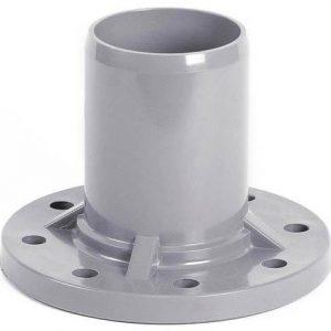 Патрубок НПВХ серый гладкий SDR26 Дн 110х100 Ру10 напорный фланец НПВХ ГОСТ Р 51613-2000
