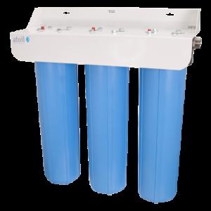 Фильтр магистральный настенный пластик Big Blue I-21S STD с механическим картриджем Slim Line 1-ступенчатый Ру6 Atoll