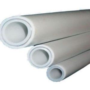 Труба PP-R белая арм алюминием Дн 20х3,4 Ру25 SDR6 Т<95С L=4м РосТурПласт 14365 цена за м.