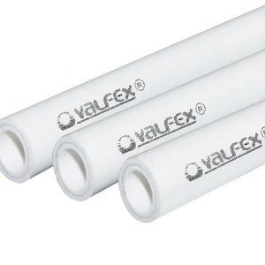 Труба PP-R белая арм алюминием Дн 20х3,4 Ру25 SDR6 Т<95С L=2м VALFEX 101040202 цена за м.