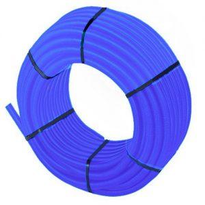 Шланг гофрированный защитный Дн 25 для трубы Дн 16 синий бухта 50м TECK Uponor 1012859