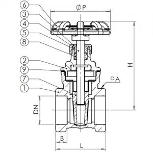 89628 300x300 - Задвижка клиновая латунь V1141 Ду 50 Ру16 ВР маховик Tecofi V1141-0050