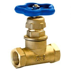 Клапан запорный латунь 15б3р Ду 32 Ру16 ВР прямой БАЗ А102мм