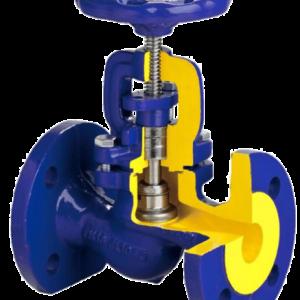 Клапан запорный чугун 215А Ду 15 Ру16 Тмакс=300 оС фл с маховиком Zetkama 215A-015-C-00