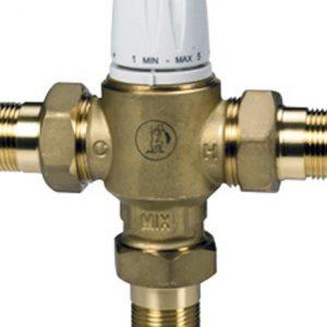 """Клапан смесительный термостатический седельный латунь R156-2 Ду 15 Ру10 G1/2"""" НР Kvs=1.3 65С с защитой от ожога Giacomini R156Y223"""