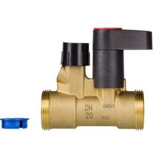 """Клапан запорный ручной латунь MSV-S Ду 15 Ру20 G3/4"""" A ВР Kvs=3м3/ч б/ниппелей Danfoss 003Z4111"""