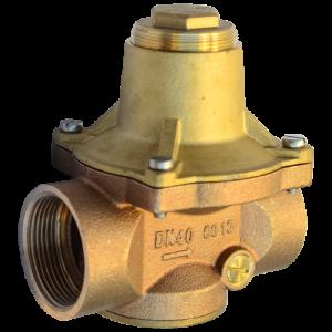 """Регулятор давления мембранный бронза Socla 7bis Ду 15 Ру16 G1/2"""" ВР 1 - 5 бар с вых. под маном. Danfoss 149B7597"""