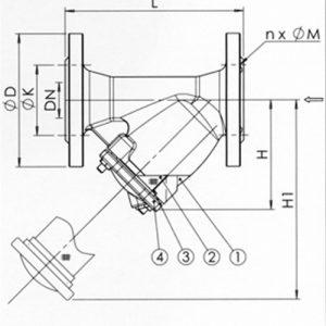 Фильтр сетчатый Y-образный чугун Ду 15 Ру16 Тмакс=170 oC фл F3240 со сливным краном Tecofi F3240N-0015