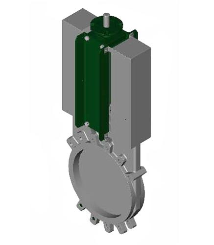 Задвижка шиберная односторонняя нерж VG6400-04EP Ду 100 Ру10 межфл под эл/привод уплотнение: ЭПДМ Tecofi VG6400-004EP0100