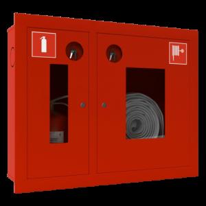 Шкаф пожарный красный ШПК-315 ВОК левый
