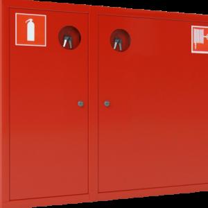 Шкаф пожарный красный ШПК-315 НЗК левый
