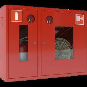 Шкаф пожарный красный ШПК-315 НОК правый