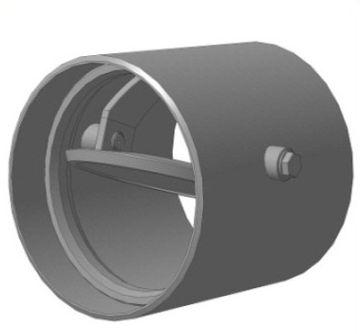 Клапан обратный стальной дисковый 19с16нж РУ10 ДУ 150